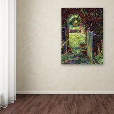 "47 in. x 35 in. ""Wicket Garden Gate"" by David Lloyd Glover Printed Canvas Wall Art"