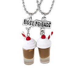 Best Friends Milkshakes Pendant Necklaces @Katie Meade snow what about these? So me and Raven Gendron