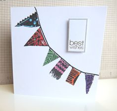 A bunting Card