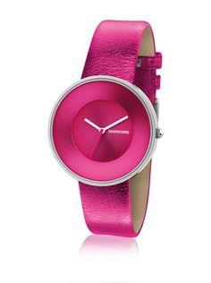 "Lambretta ""Cielo Metallic Pink"" Edelstahl Leder Fuchsia Frau Uhr - http://uhr.haus/lambretta/lambretta-cielo-metallic-pink-edelstahl-leder"