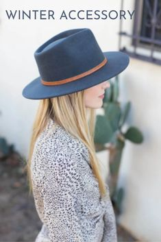 The Rory by Wyeth is a classic mid brim tear drop fedora with a genuine leather double wrapped rope with a simple knot. #hats #hatsforwomen #womenshat #bohohat