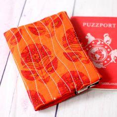 Orange Passport Cover Quilted Passport Sleeve Boho Passport