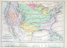 1873 Physical Map of the United States