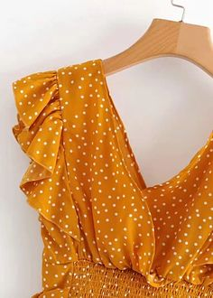 Ruffle Sleeves Crop Top   DISHEE Chiffon Fabric, Ruffle Sleeve, Ruffles, Casual, Elastic Waist, Crop Tops, Sleeves, Shopping, Women's Casual Looks