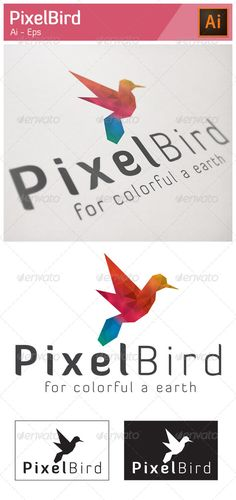 Pixel Bird Logo — Vector EPS #design #pixel • Available here → https://graphicriver.net/item/pixel-bird-logo/5216735?ref=pxcr