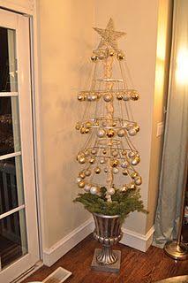 Lampshade Christmas tree tutorial.