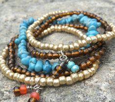 cute stretchy bracelets that I may try to make