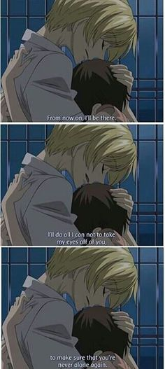 We usually know how different the manga and anime can be. Fans of Ouran High School Host Club weren't too happy with the ending of the anime. Haruhi and Tamaki Ouran Host Club, Ouran Highschool Host Club, Host Club Anime, High School Host Club, High School Couples, Manga Anime, Anime Gifs, Manga Comics, Dc Comics