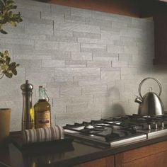 Gorgeous, Inspirational Kitchen Backsplashes [30 Pictures]: Urban Gray Kitchen Backsplash For Behind Stove