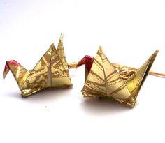 origami earrings!