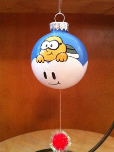 Just in time for Christmas and a perfect addition to any Christmas tree is this Lakitu Ornament from Super Mario Bros. It is carefully hand Homemade Christmas, Christmas Diy, Christmas Bulbs, Crafts For Kids To Make, Diy And Crafts, Christmas Centerpieces, Christmas Decorations, Mario Crafts, Video Game Decor