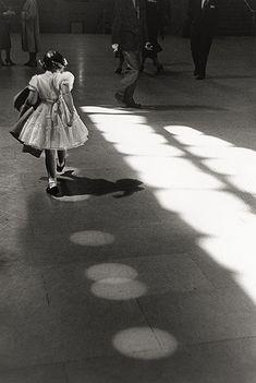 """""""Girl Dancing in Circles, Penn Station, 1958"""" Louis Stettner"""