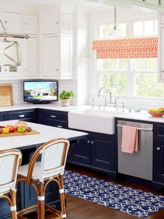 This stylish kitchen, featured in HGTV Magazine, offers plenty of inspiration for your own kitchen redesign.