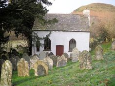 The Chapel at Capel-y-ffin in the Black Mountains of Brecknockshire, Wales. The chapel was the subject of a painting by Eric Ravilious in 1938.