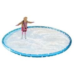 Awesome!!! Inflatable Ice Skating Form growing up my neighbors flooded their basket ball court thing in their back yard so this square this is the most fun ever you must have this if you have ice in the winter not even kidding or best family gift on earth right?