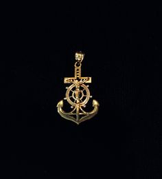 Nautical-inspired Christian pendant
