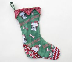 Original Boston Terriers are Merrier Puppy Christmas Stocking
