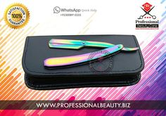MULTI COLORS TITANIUM STRAIGHT RAZOR WITH POUCH  Brand: Professional Beauty Blade Holder Material: Steel Handle material: Steel  Barber Razor, Barber Shop, Barber Shop Connect, Barber Supplies, Barber Supply, Blade, Cut_Throat, Golden Razor, Knife, Razor, Razor Kit, Razor Supplier, Razor Wholesaler, Razors Kit, Shaver, Shaving Razor, Silver Razor, Straight Razor, Pbc Razor, pbc Tools, Swing Lock, Swing Lock Blade Holder, Trim, Professional Beauty,  This is best choice of barbers and brands