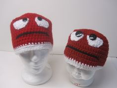 INSIDE OUT Anger crochet hat in adult and children's sizes. Purchase from Francesca4me