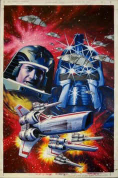 BATTLESTAR GALACTICA TPB COVER TWO - GARRY LEACH ART, in the March 2006: Comic Characters without Super Powers Comic Art Sketchbook