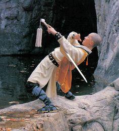 Shaolin Monk in a Drunken Sword stance