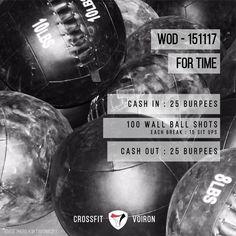 WOD 151117 #CrossFit #Voiron #CrossFitVoiron #Wod #Training #OriginalAthlete #DuSportMaisPasQue #Sport #BeCrossFit #sportunited #challengeyourself #communitycrossfit #beastmode #workout #fitspo #getfit #goals #goodlife #fortime