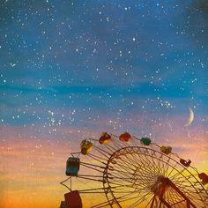 moon and stars at carnival