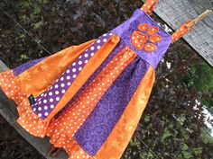 Items similar to Toddler size Customized School Spirit Wear Dress/Babydoll. A fun and unique way to show YOUR spirit. on Etsy Spirit Wear, Sewing Projects, Sewing Ideas, Coordinating Colors, Tie Knots, School Spirit, Back Strap, My Etsy Shop, Aprons