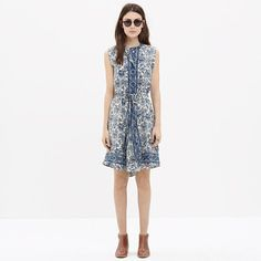 Madewell - Silk Journey Shirtdress in Porcelain Floral