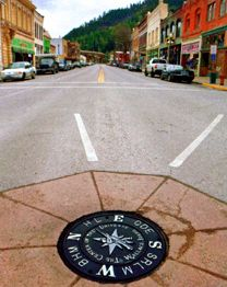 Historic Wallace Idaho the Center of the Universe