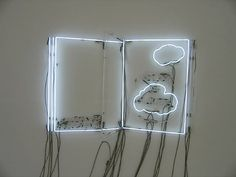 Atlas of Clouds - Philippe Parreno Philippe Parreno, Collages, Neon Lighting, Light Art, Installation Art, Art Lessons, Book Art, Artist's Book, Paper Art