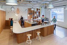 williamson chong fits out public coffee hub with timber detailing