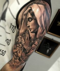 For more ideas and inspirations how are you - Tattoos - Praying Hands Tattoo, Christ Tattoo, Jesus Tattoo, Daddy Tattoos, Dope Tattoos, Belly Tattoos, Eagle Tattoos, 3d Tattoos, Bodysuit Tattoos