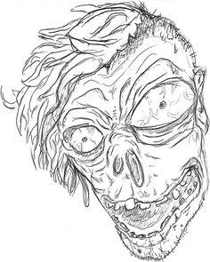Zombie Sketch Art   ZOMBIE SKETCH by epiic89