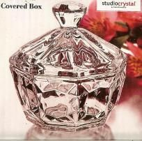 Fine Crystal Covered Candy Dish / Covered Box