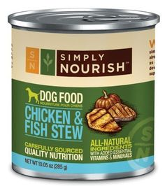 Simply Nourish Chicken  Fish Stew 1005 Ounces Grain Free Dog Food Pack of 12 ** Read more reviews of the product by visiting the link on the image.