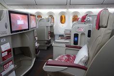Royal Air Maroc 787 Business Class cabin.