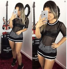 Look Deise Ezthelkhel (Festa) Girly Outfits, Summer Outfits, Cute Outfits, Girl Fashion, Fashion Outfits, Womens Fashion, Hot Dress, Character Outfits, Festival Outfits