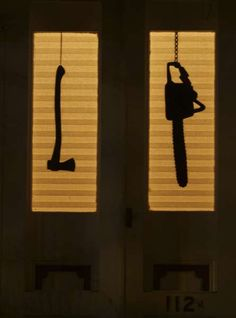Spooky DIY Halloween Decor - Haunted House Silhouettes Will Terrify Trick-or-Treaters (GALLERY)