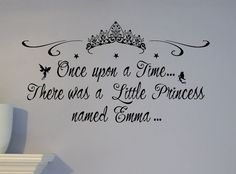 Personalized Name Little Princess Castle Wall Decal Mural Custom NURSERY CROWN in Home & Garden | eBay