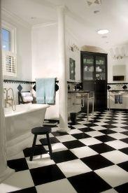 Love the black/white floor