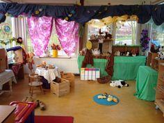 Boerderijhoek op de prins Clausschool.