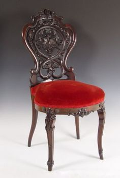 c1860 Rococo dining chair, laminated rosewood, Ch Klein, 10-9.
