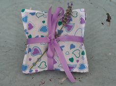 Blue Lavender and Green Heart Themed Lavender by BobbinandPixel, £7.00