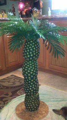My pineapple tree that I made for a Hawaiian luau.