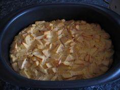 Rezept: Falscher Apfelstrudel - besser gesagt Quarkauflauf - aus dem Tupper-Ultra 3 Liter
