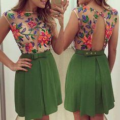 Round Collar Sleeveless Flower Pattern See-Through Women's Dress