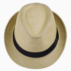 d0d7c9398fdf8 6 Colors Solid Straw Women Beach Summer Hat Fedoras Casual Panama Sun Hats.  Trilby HatStraw FedoraStraw ...