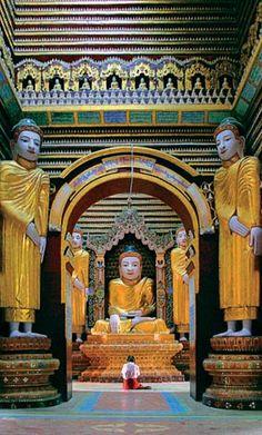 Buddhist Temple Monywa Myanmar Burma   Flickr: partage de photos!