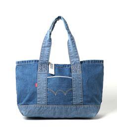 【ZOZOTOWN】EDWIN(エドウィン)のトートバッグ「デニム 横長トートバック」(KME003-00, KME003-40)を購入できます。